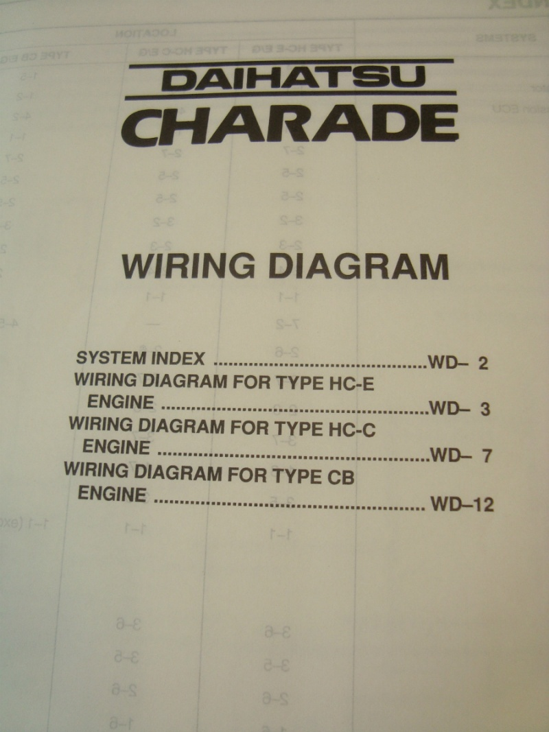 Daihatsu Charade G203 Workshop Manual Wiring Diagram G200 Free Pdf