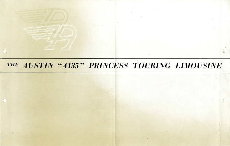 Brief Falten Länglich : Austin a princess touring limousine brochure